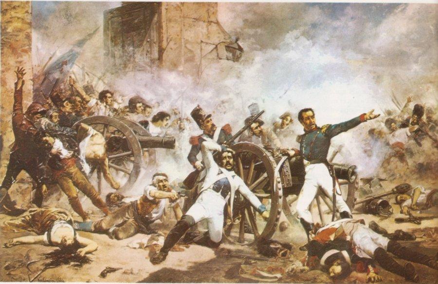 Guerra de Independencia - Defensa del Parteque de Monteleón